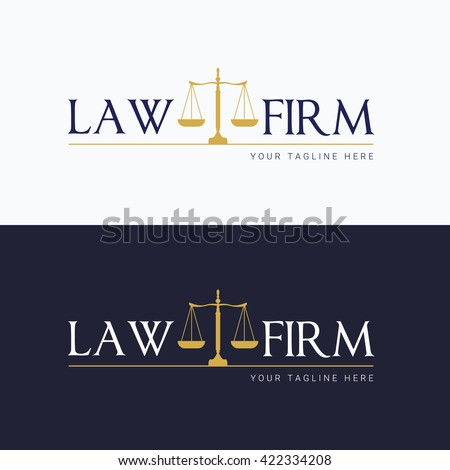 Law Firm Logo Template Stock Vector (Royalty Free) 422334208 ...