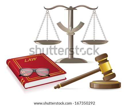 law icons vector illustration isolated on white background - stock vector
