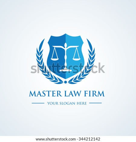 Law office logo. law logo,The judge, Law firm logo template, lawyer logo. Full vector logo template