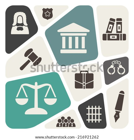 Law theme background - stock vector