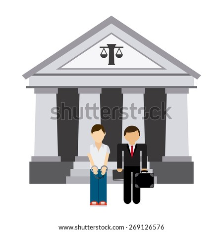 lawyer man design, vector illustration eps10 graphic