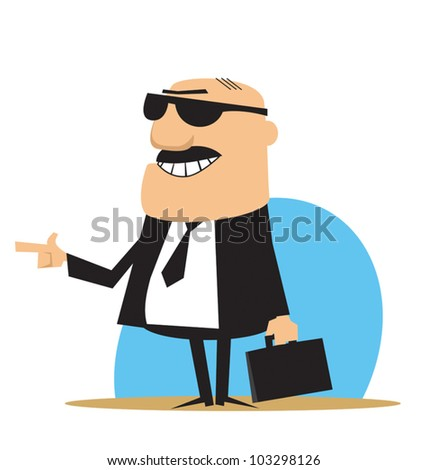 Lawyer or Salesman - stock vector