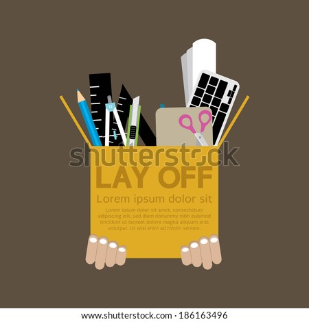 Lay Off Vector Illustration - stock vector