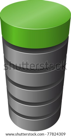 Layered cylinder. Vector. - stock vector