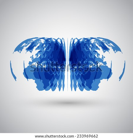 Layered earth, vector - stock vector