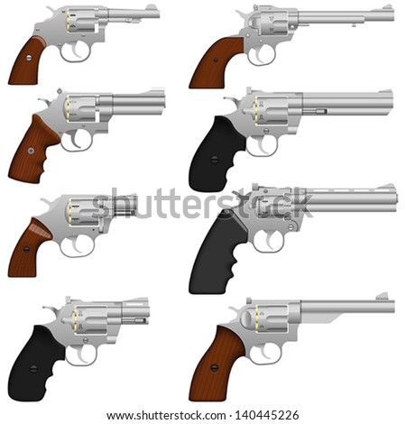 Layered vector illustration of collected Revolver. - stock vector