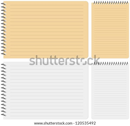 Layered vector illustration of Notebook with white background. - stock vector