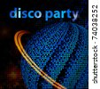 Layout abstract flyer for a disco party. Vector - stock photo