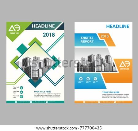 Layout Brochure Template Flyer Magazine Cover Stock Vector 777700435