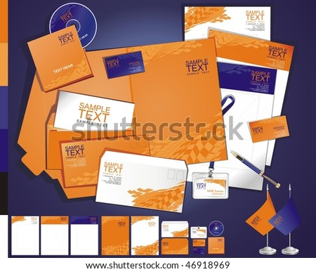 Layout creative contemporary business template - stock vector