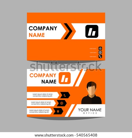 Layout design template id card business stock vector hd royalty layout design template id card and business card reheart Gallery