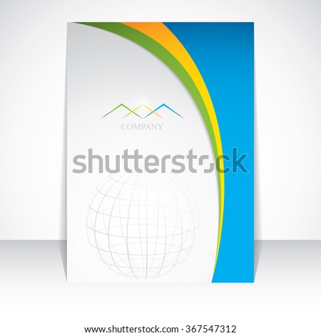 Layout design vector template - stock vector