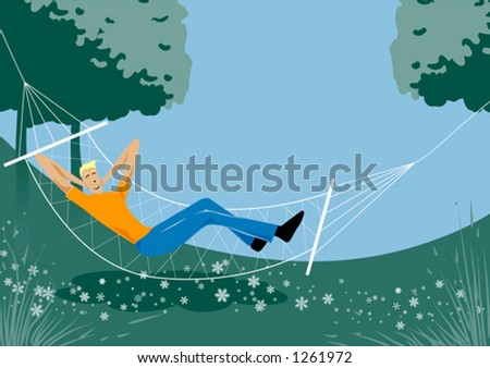 Lazy summer day - stock vector