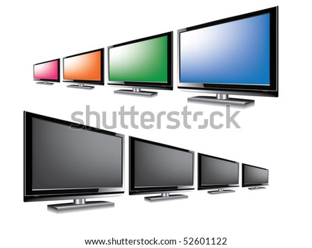 LCD monitor blank - stock vector