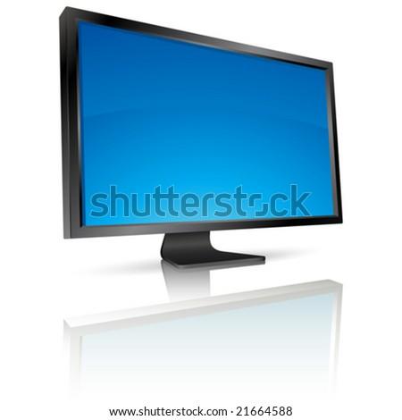 LCD screen - stock vector