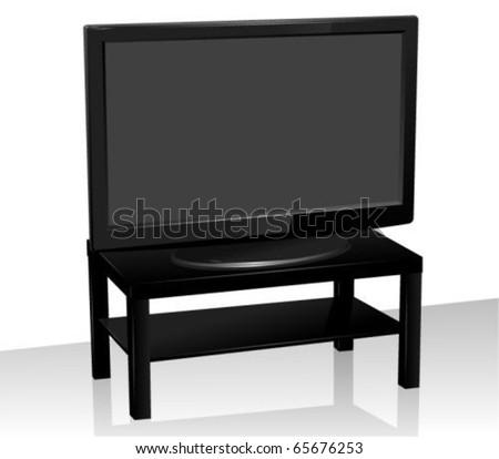 LCD TV - stock vector