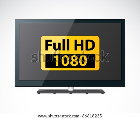 LCD TV - stock vector
