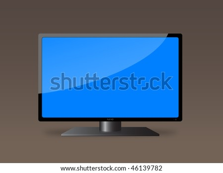 LCD TV. Eps10 - stock vector