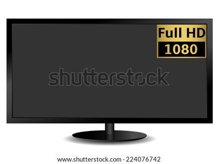LCD TV FULL HD. Vector illustration EPS-10. - stock vector