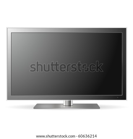 LCD TV (vector) - stock vector