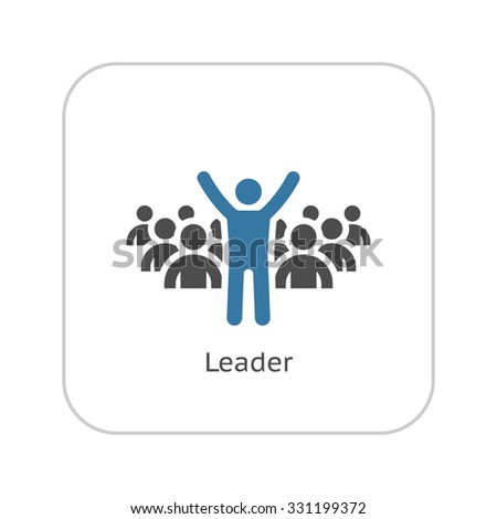 Leader Icon. Business Concept. Flat Design. Isolated Illustration. - stock vector