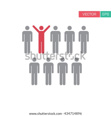 Leader Icon - Leadership, Boss, Politician, Management, Lead Icon in Glyph Vector illustration. - stock vector
