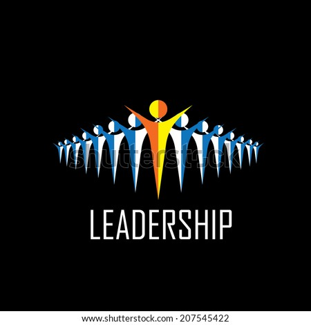 leader, leadership, winner, followers - vector icons. This graphic illustration also represents executives and manager, highly showing the way, ceo & employees, leading from front - stock vector
