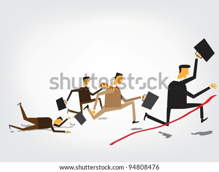 Leader of competition - stock vector