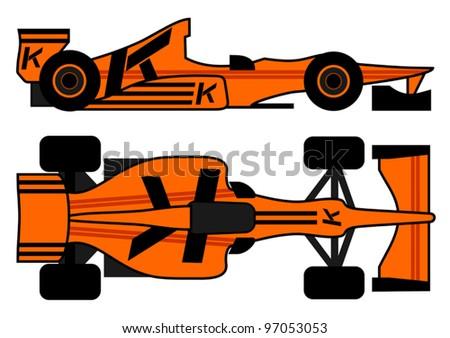 Leader racing car - stock vector