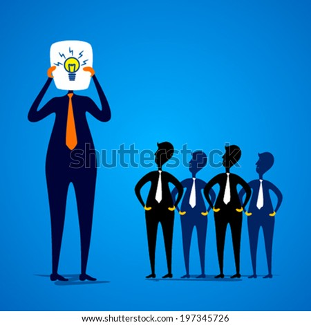 leader show new idea to the team member design concept vector - stock vector