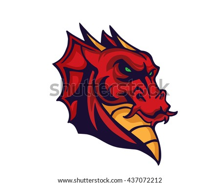 Leadership Animal Logo - Fierce Dragon Leader Character