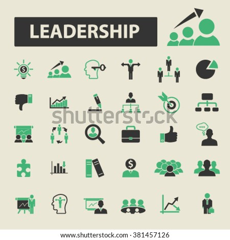 leadership icons - stock vector