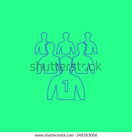 Leadership Simple outline vector icon on green background