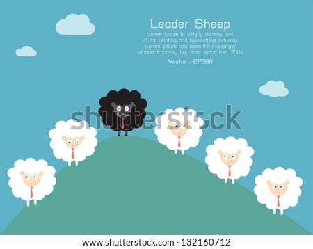 Leadership, vector - stock vector