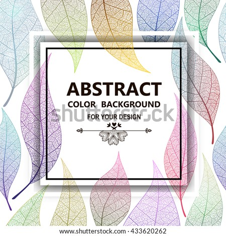 Leaf abstract background. Vector, EPS10. - stock vector