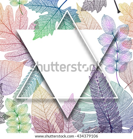 Leaf abstract bright background. Vector, EPS10.