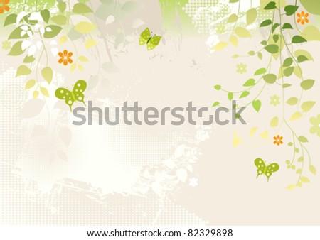 Leaf Background - stock vector