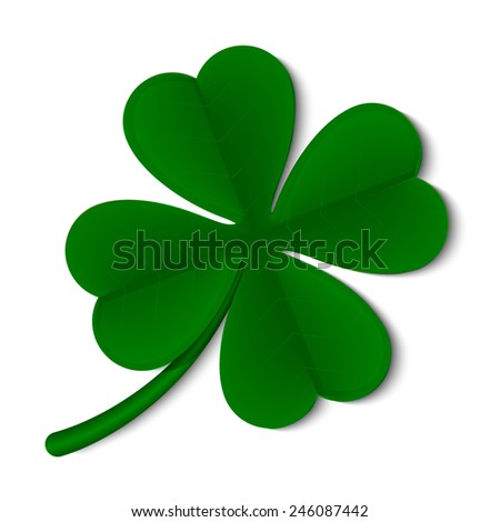 leaf clover isolated on white background - stock vector
