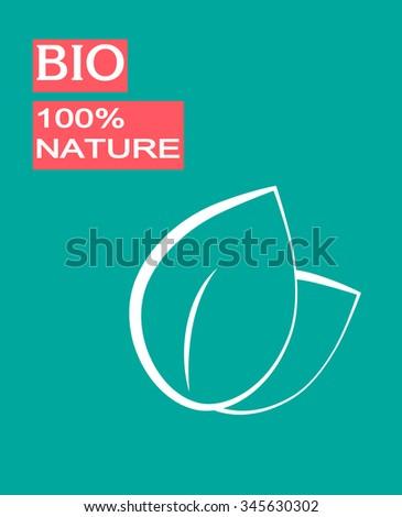 Leaf . Eco design - stock vector