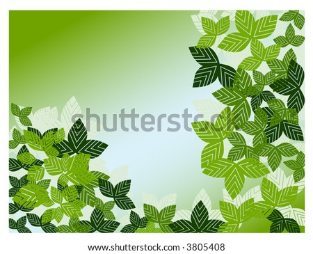 leaf frame vector three in series - stock vector