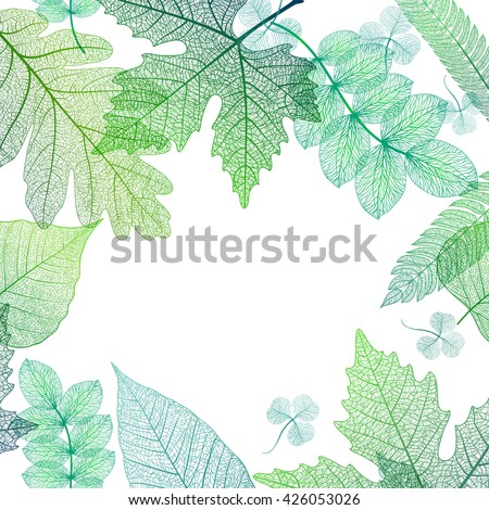 Leaf green background. Vector, EPS10. - stock vector