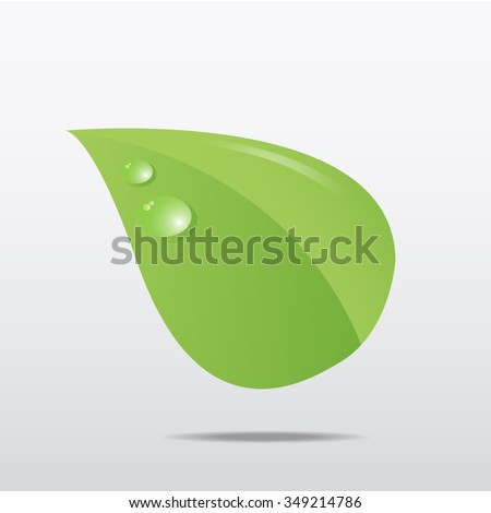 Leaf green icon. Vector Eps 10
