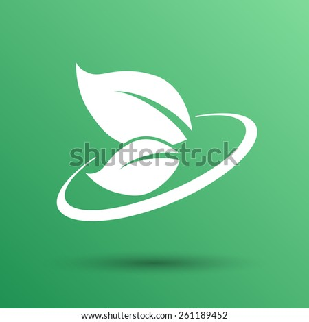 leaf icon green symbol nature vector fresh sign element. - stock vector