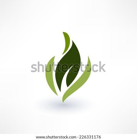 Leaf icons. Eco concept. Logo design. - stock vector