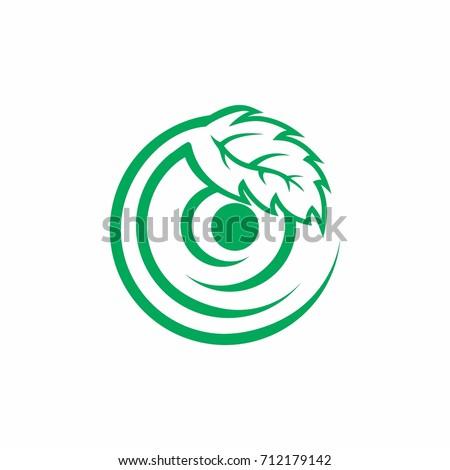 Leaf Circle One Eye Symbol Logo Stock Vector 712179142 Shutterstock
