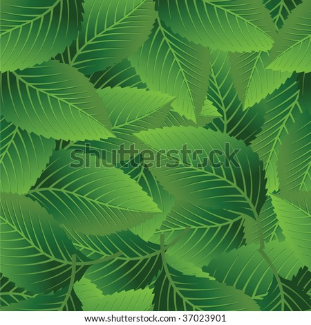 Leaf seamless pattern. (See more seamless backgrounds in my portfolio). - stock vector
