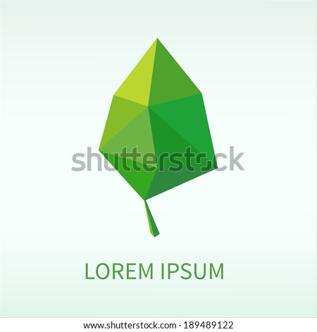 Leaf symbol. EPS vector template. - stock vector