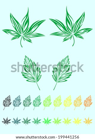 Leaf tribal art vector design.