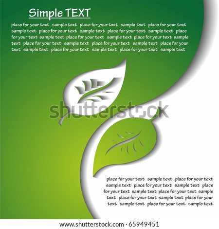 Leaf. vector background with space for your text. - stock vector