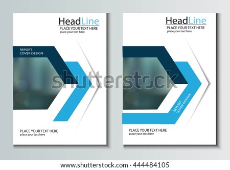 leaflet brochure flyer template a4 size stock vector 444484105, Presentation templates